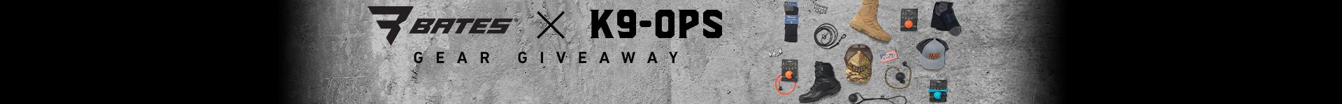 Bates K9 Ops giveway kit.