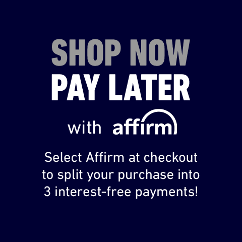 Shop now pay later with Affirm. Select Affirm at checkout to split your purchase into 3 interest-free payments!