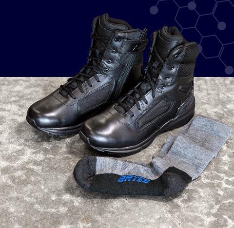 Raide boots and Bates socks.