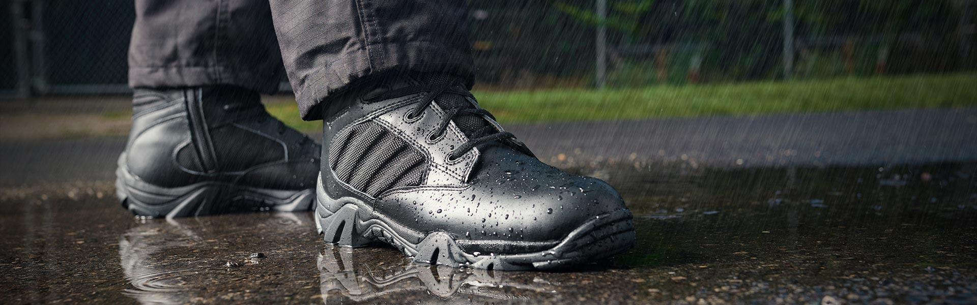 Bates black Waterproof boots.