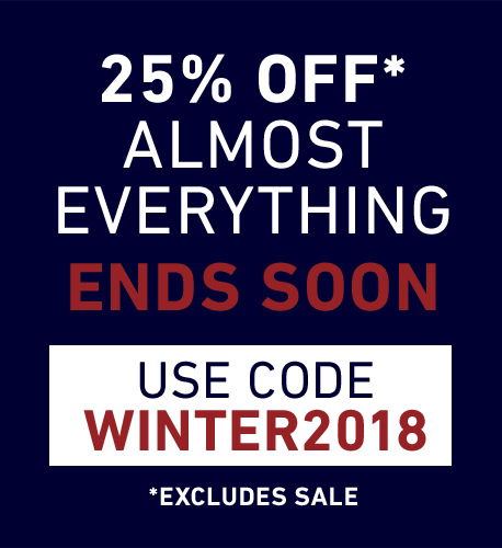 25% OFF* ALMOST EVERYTHING, USE CODE SAVEMORE *EXCLUDES SALE