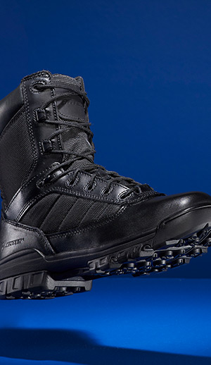 Profile of a Bates boot.