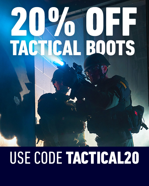 20% Off Tactical boots. Use code TACTICAL20