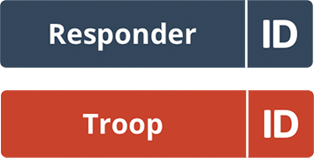 Responder id.me button and troop id.me button.