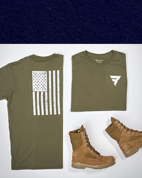 A Bates t-shirt (front and back) and a pair of Bates boots