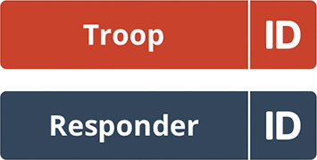 Troop ID or Responder ID